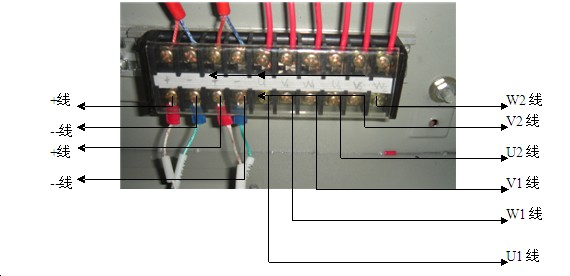 WIRE CONNECTION OF EVA GLASS LAMINATING MACHINE