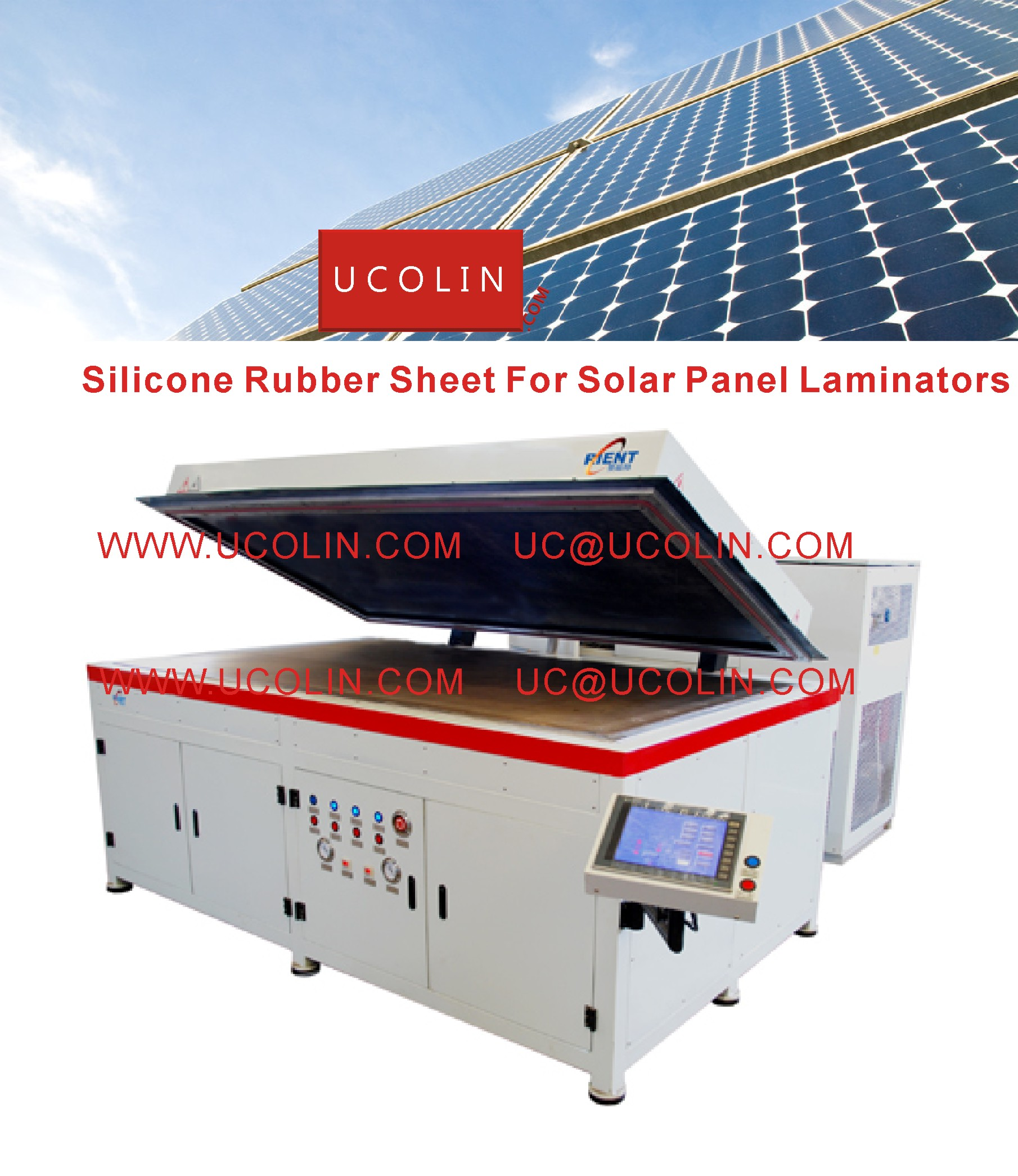 002 Silicon Rubber Sheet For Solar Panel Laminators