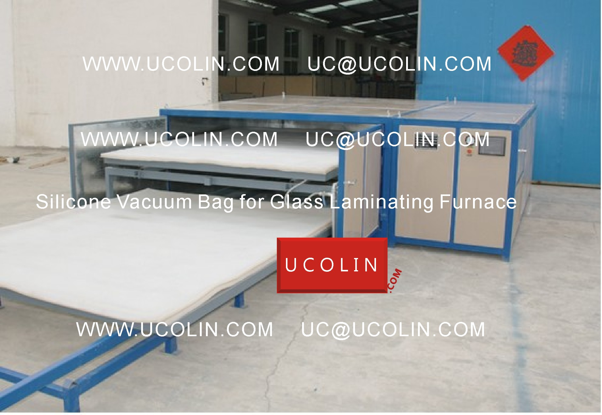 01 Application of Silicone Vacuum Bag for Glass Laminating Furnace