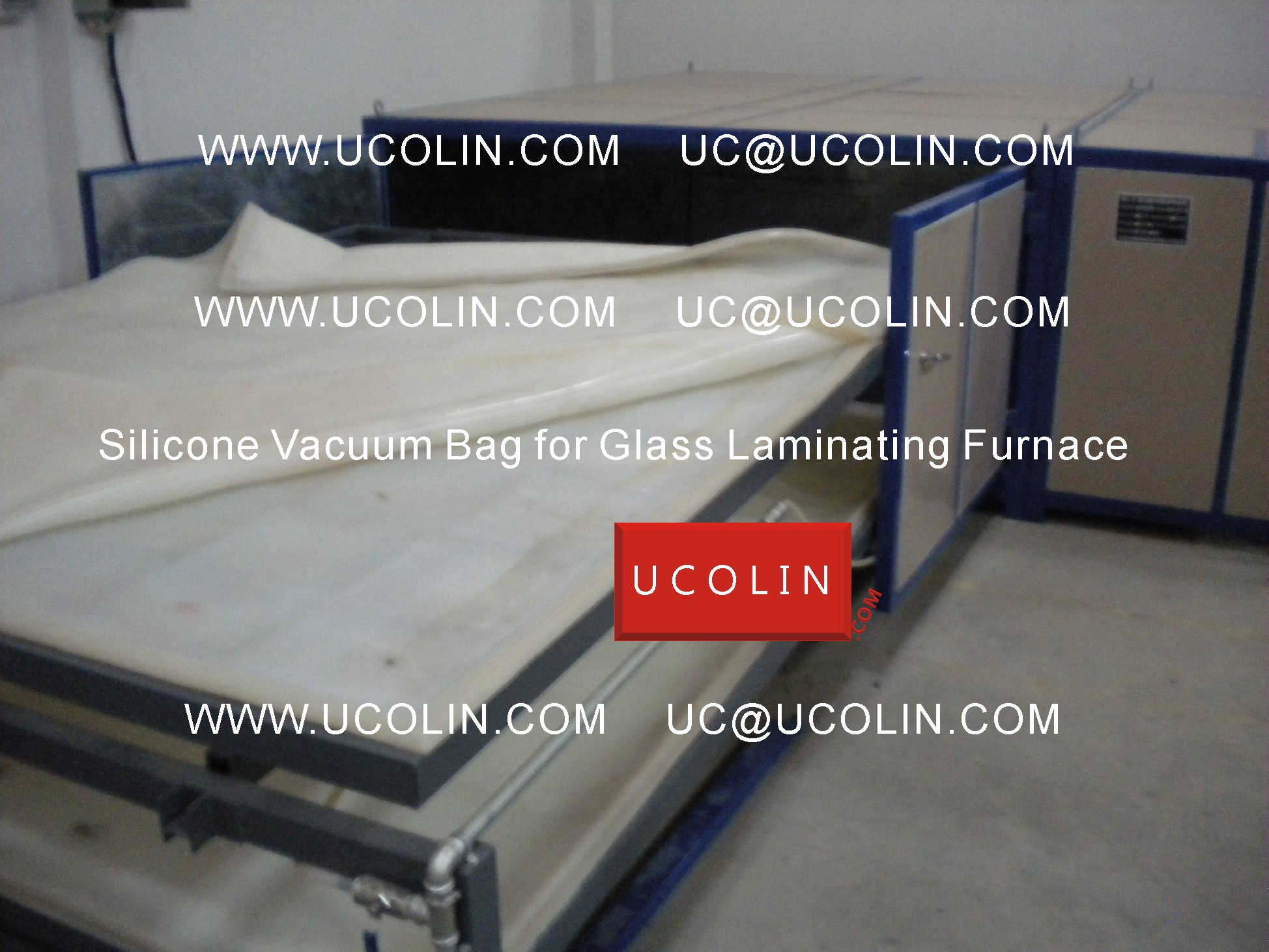 02 Application of Silicone Vacuum Bag for Glass Laminating Furnace