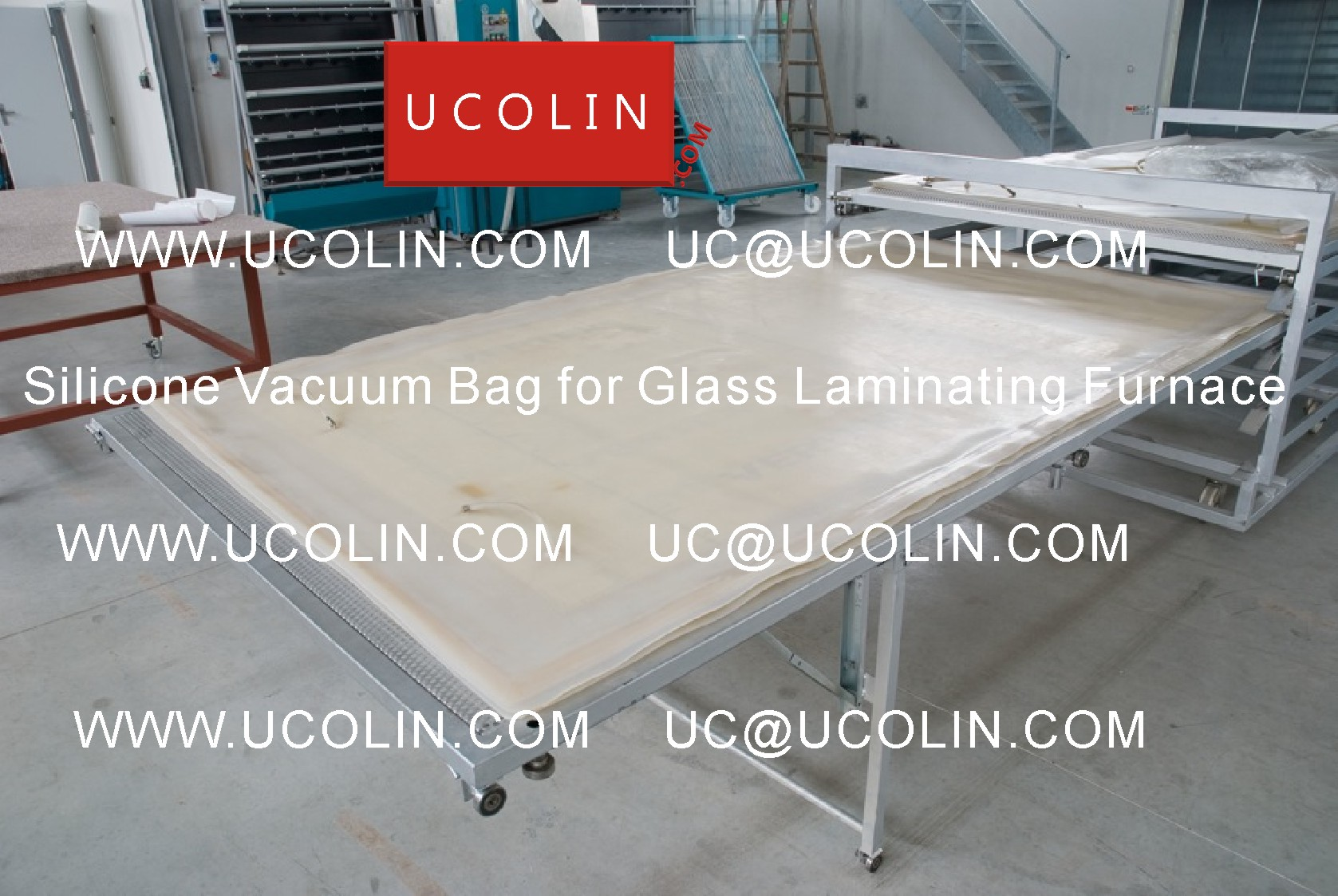 03 Application G Silicone Vacuum Bag for Safety Glass Laminating Furnace