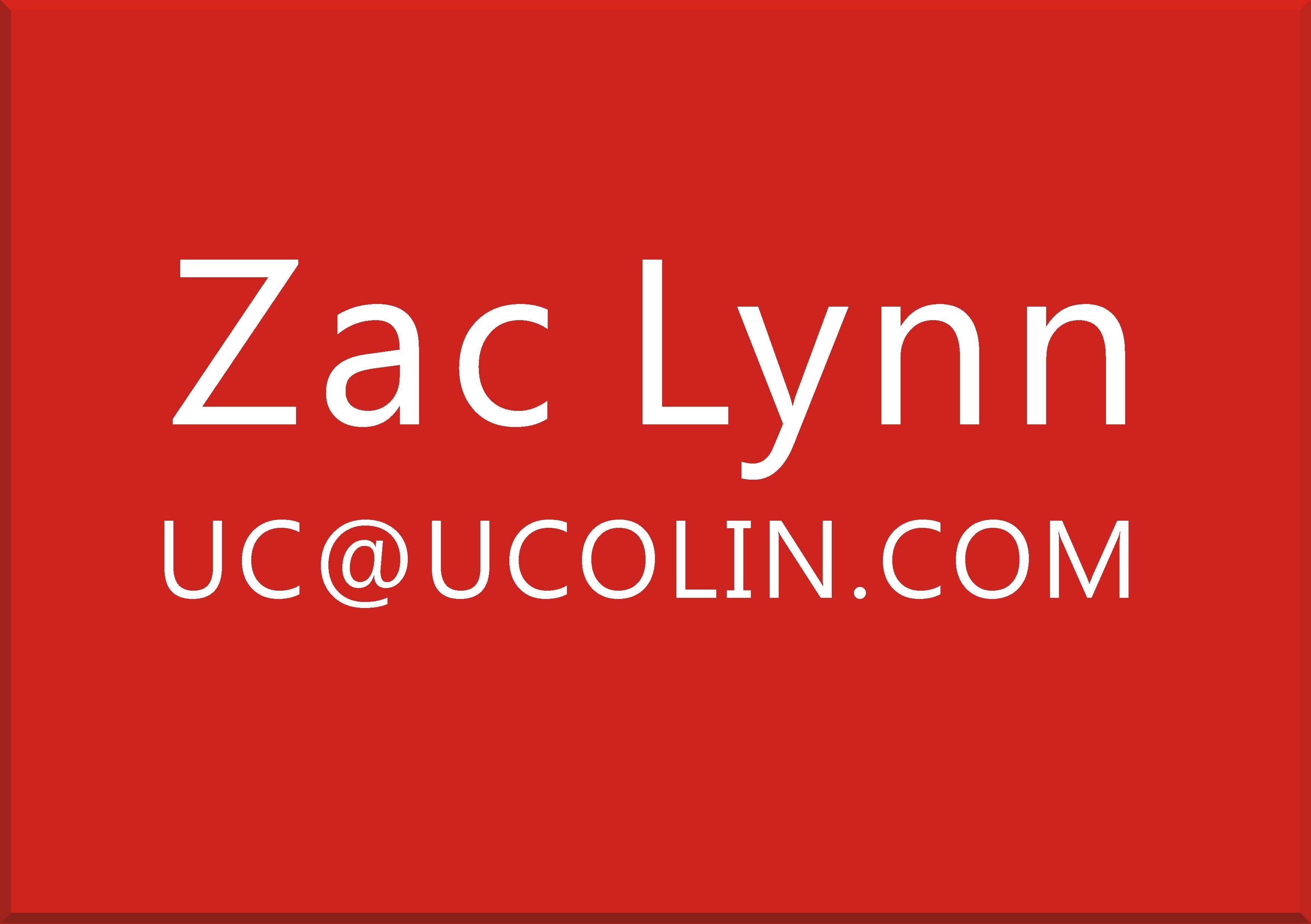 ZAC LYNN  UC@UCOLIN.COM