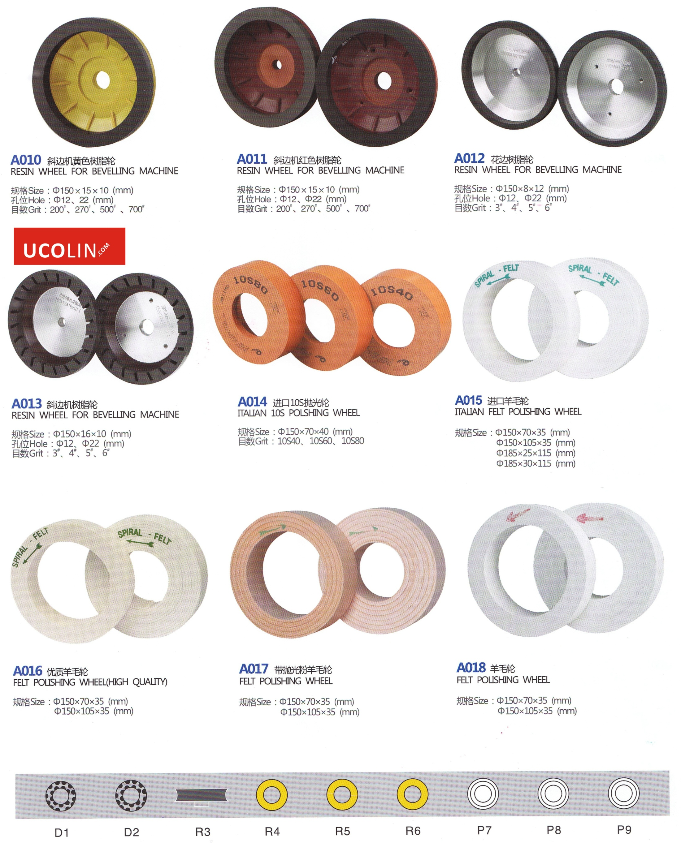Wheels Accessories for Beveling Glass Edging Machine 10