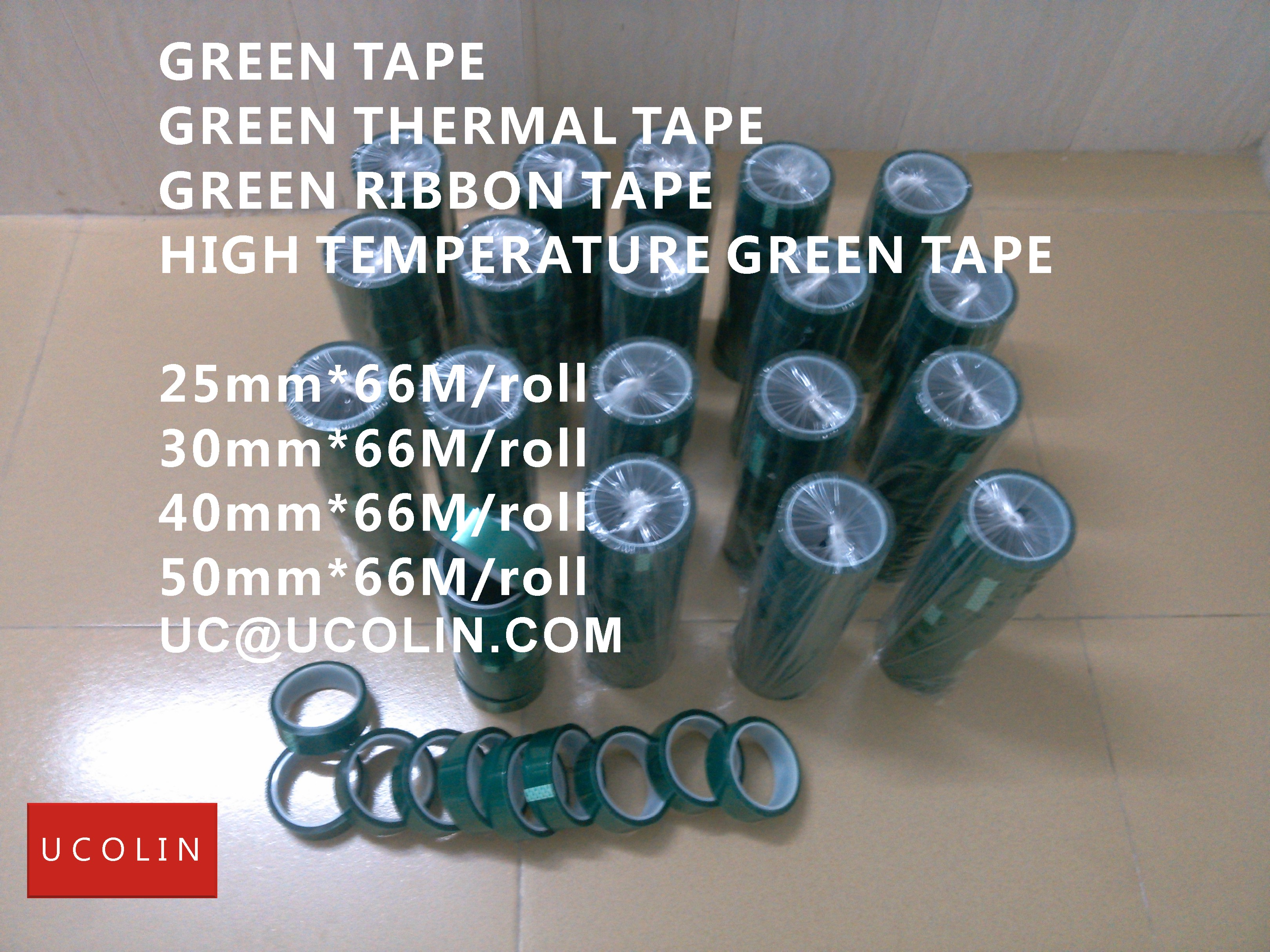 01 HIGH TEMPERATURE GREEN TAPE FOR EVA INTERLAYER GLASS LAMINATING