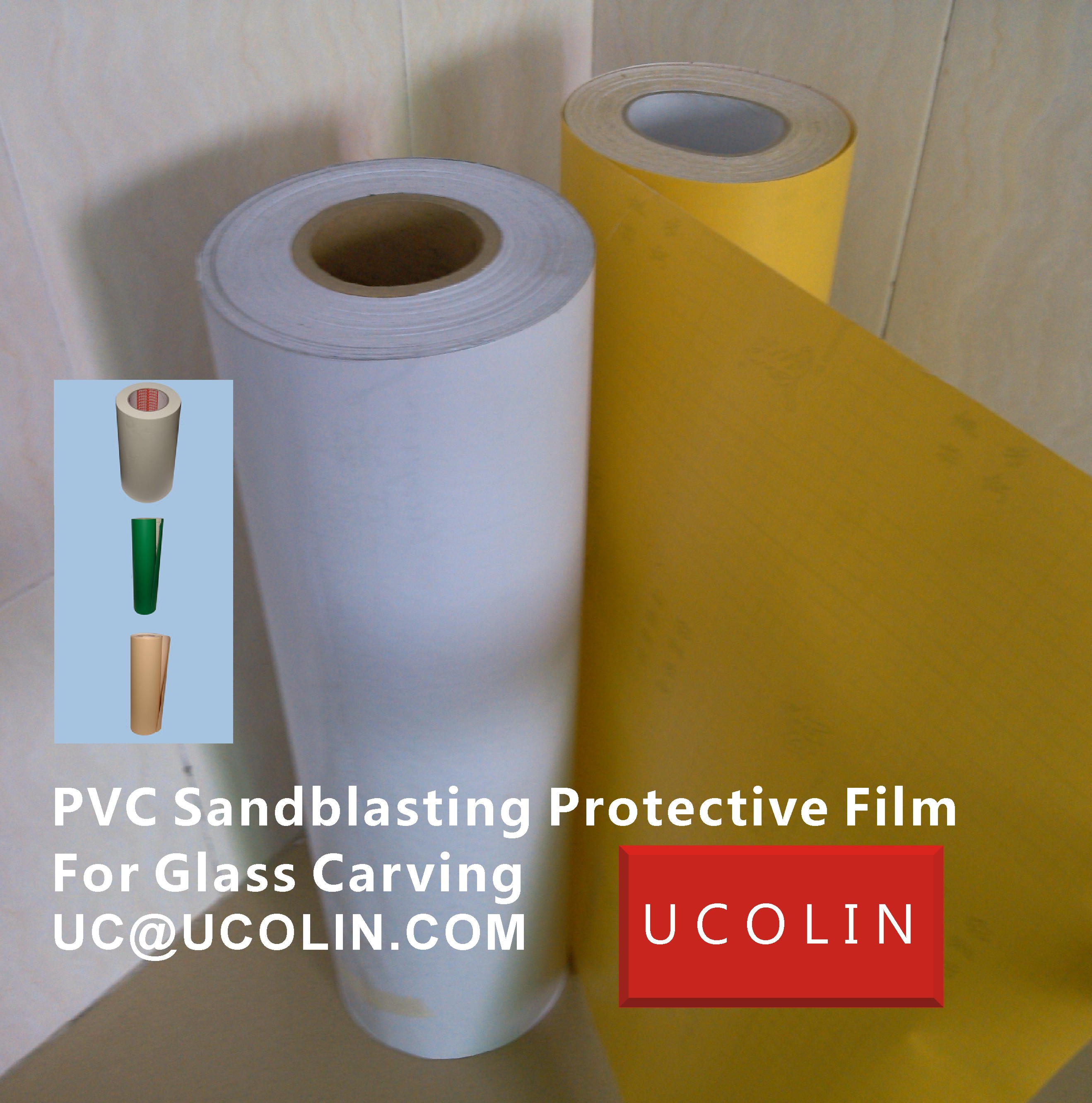 03 PVC Sandblasting Protective Film For Glass Carving
