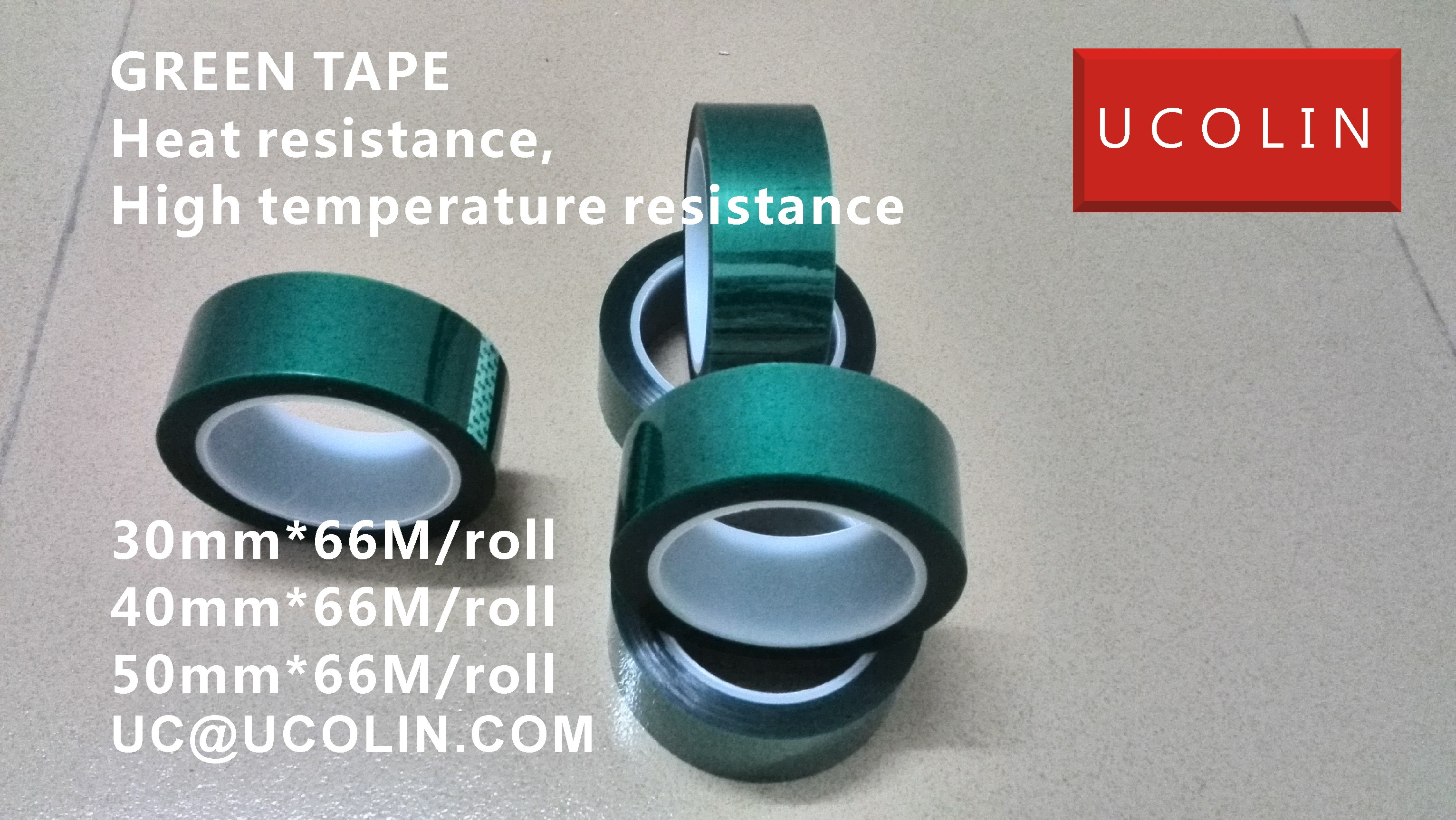 04 HIGH TEMPERATURE GREEN TAPE FOR EVA INTERLAYER GLASS LAMINATING