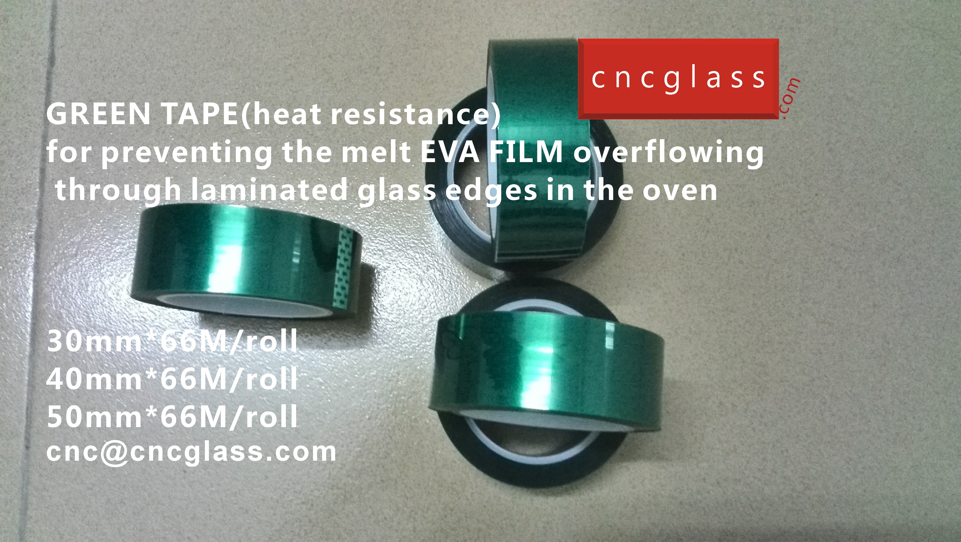 06 HOW TO USE GREEN TAPE(HEAT RESISTANCE) IN EVA FILM GLASS LAMINATING GLAZING