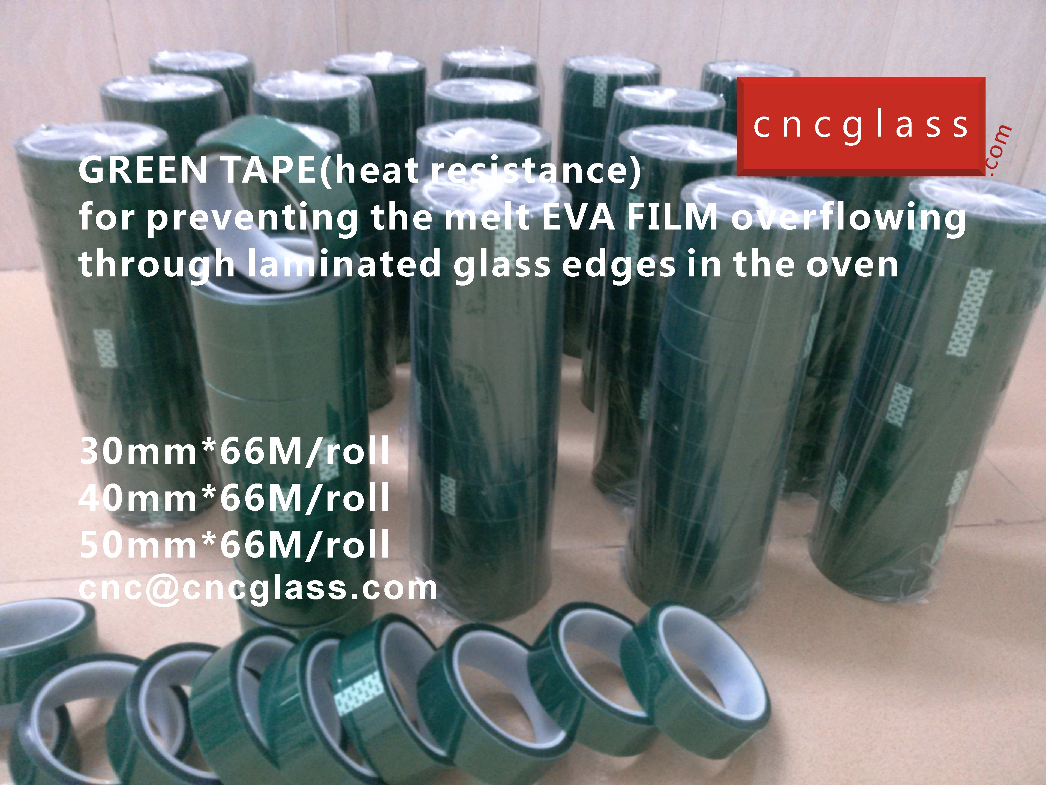 07 HOW TO USE GREEN TAPE(HEAT RESISTANCE) IN EVA FILM GLASS LAMINATING GLAZING