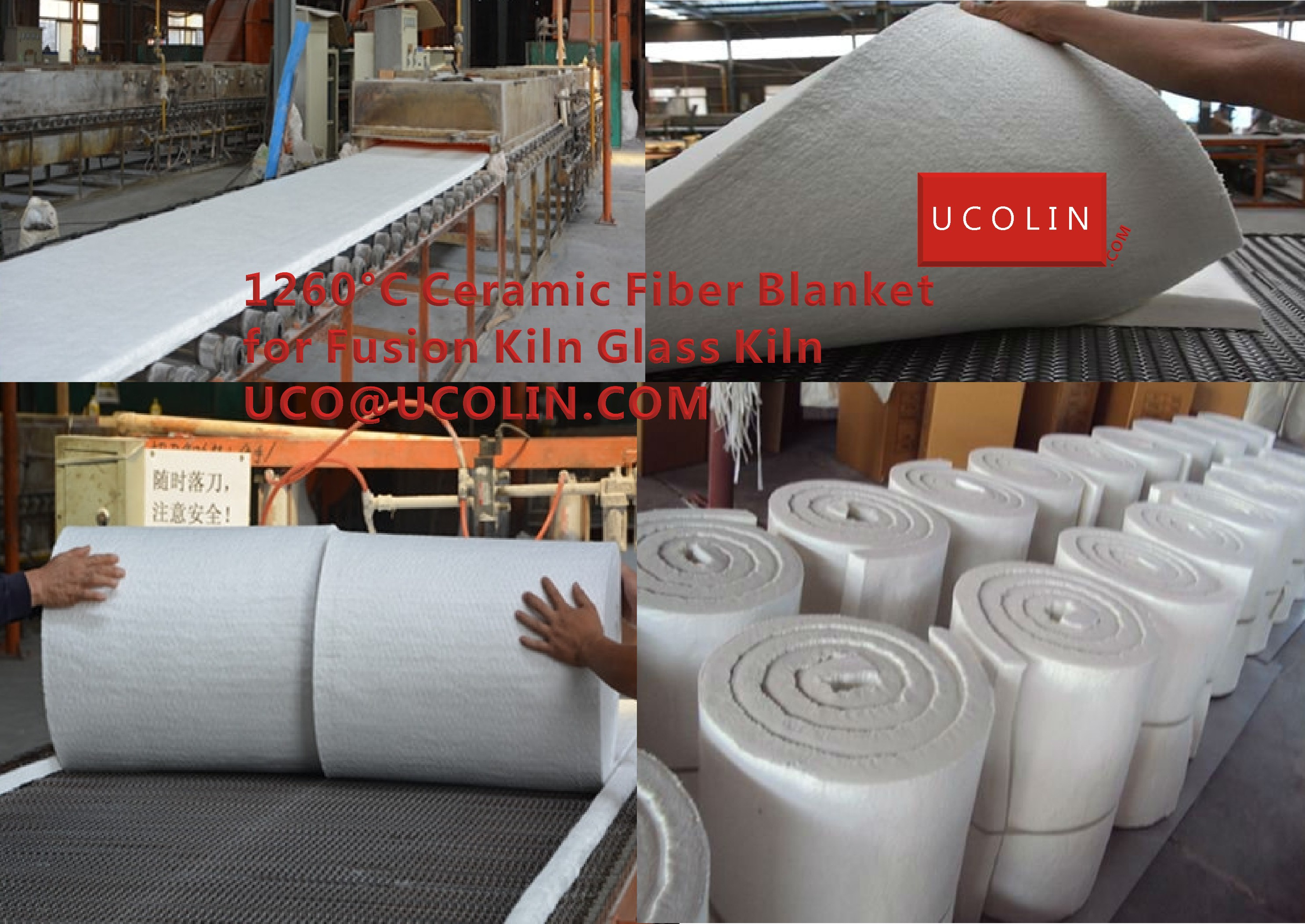 1260°C Ceramic Fiber Blanket for Fusion Kiln Glass Kiln