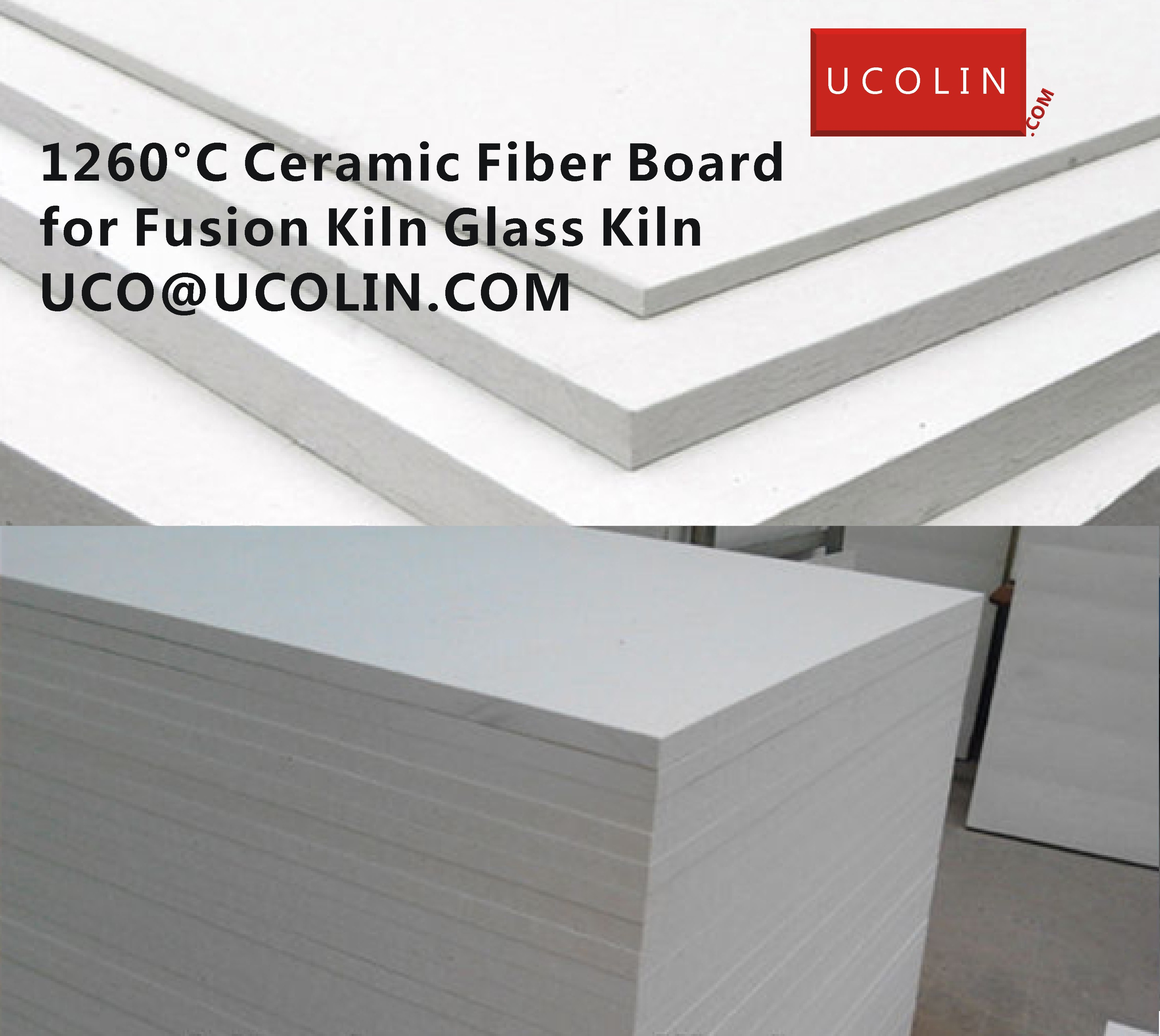 1260°C Ceramic Fiber Board for Fusion Kiln Glass Kiln