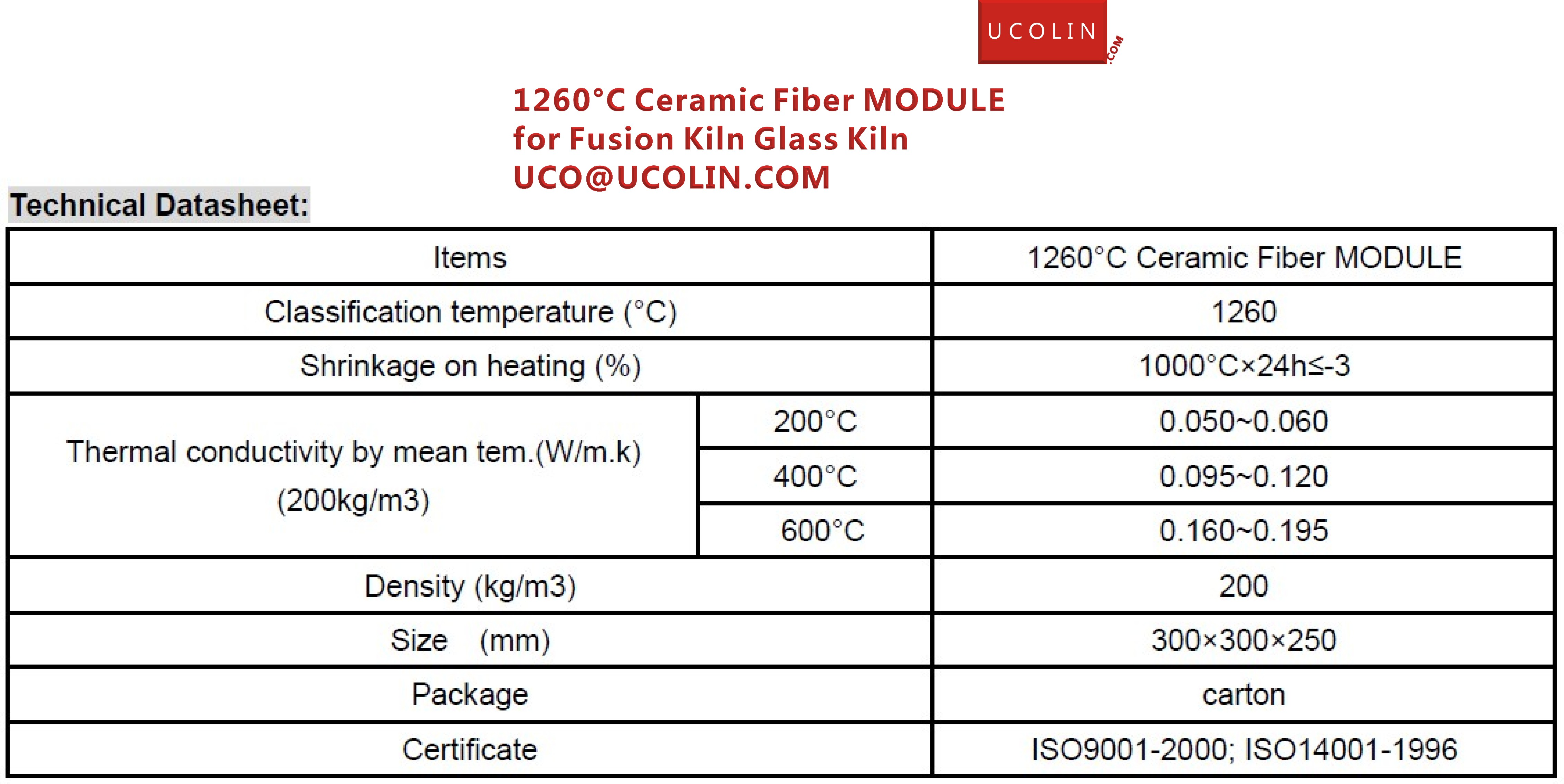 1260°C Ceramic Fiber MODULE for Fusion Kiln Glass Kiln   02