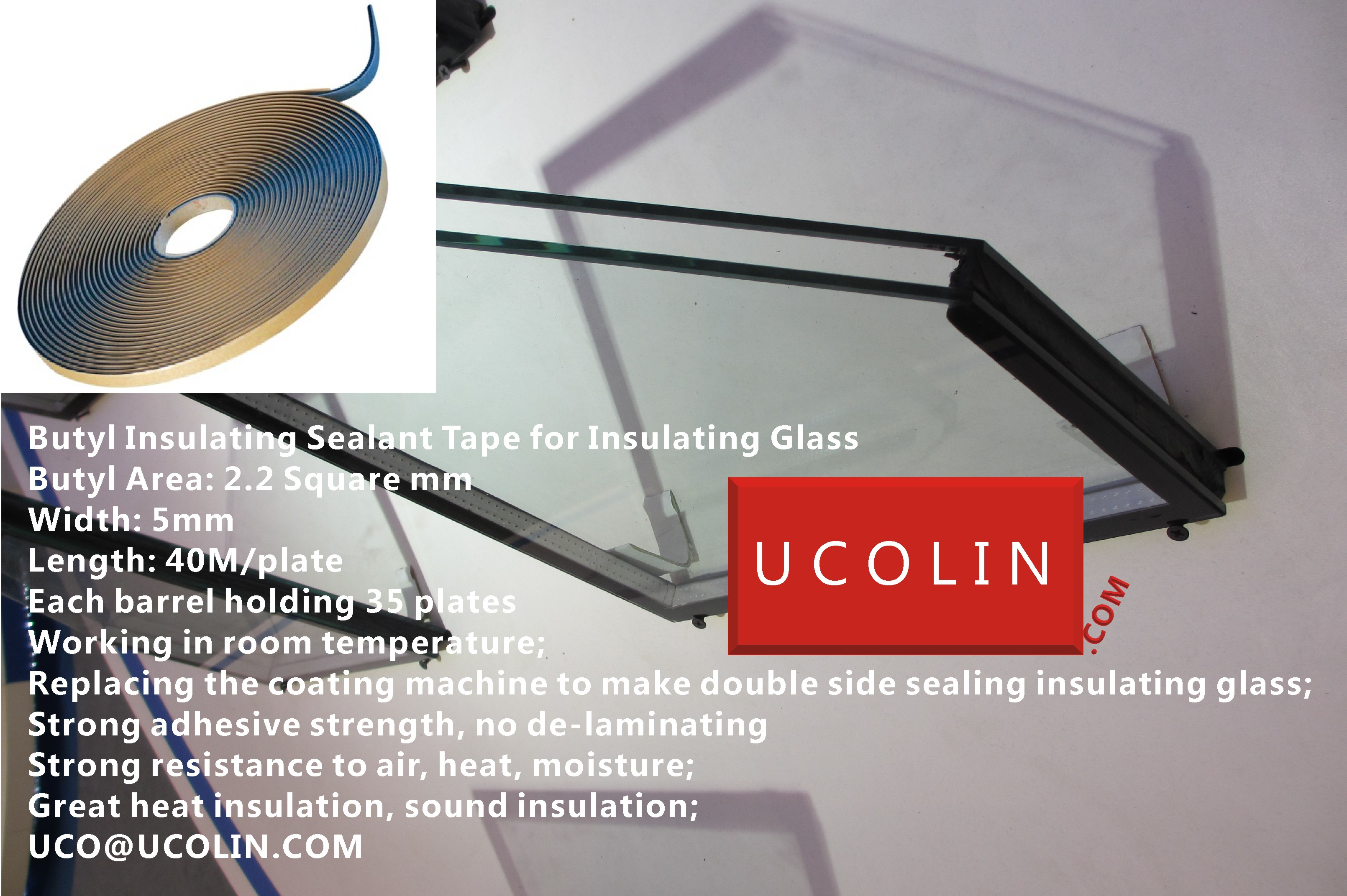 Butyl Insulating Sealant Tape for Insulating Glass