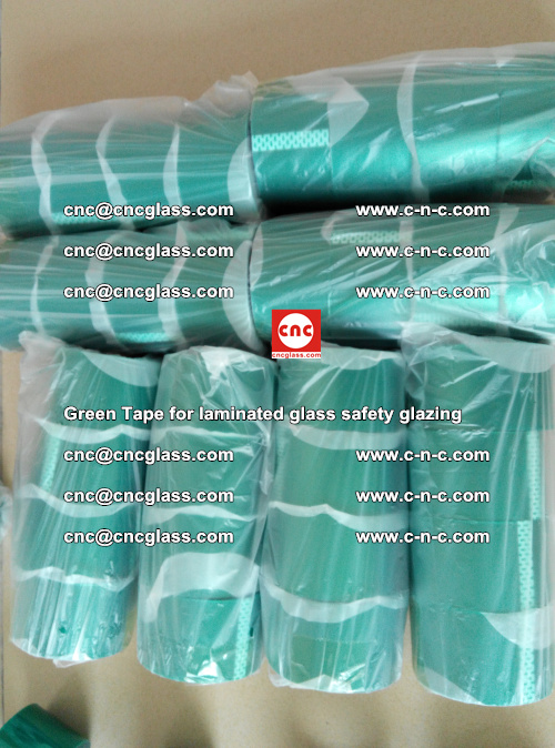 Green Tape for laminated glass safety glazing, EVA FILM, PVB FILM, SGP INTERLAYER (27)