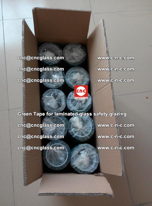 Green Tape for laminated glass safety glazing, EVA FILM, PVB FILM, SGP INTERLAYER (72)