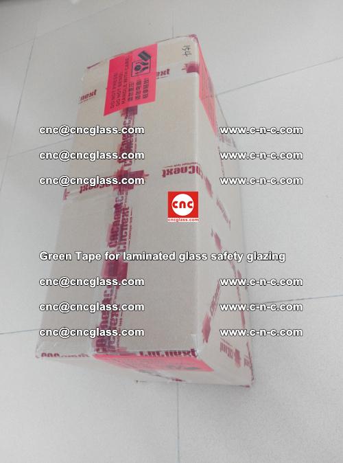 Green Tape for laminated glass safety glazing, EVA FILM, PVB FILM, SGP INTERLAYER (86)