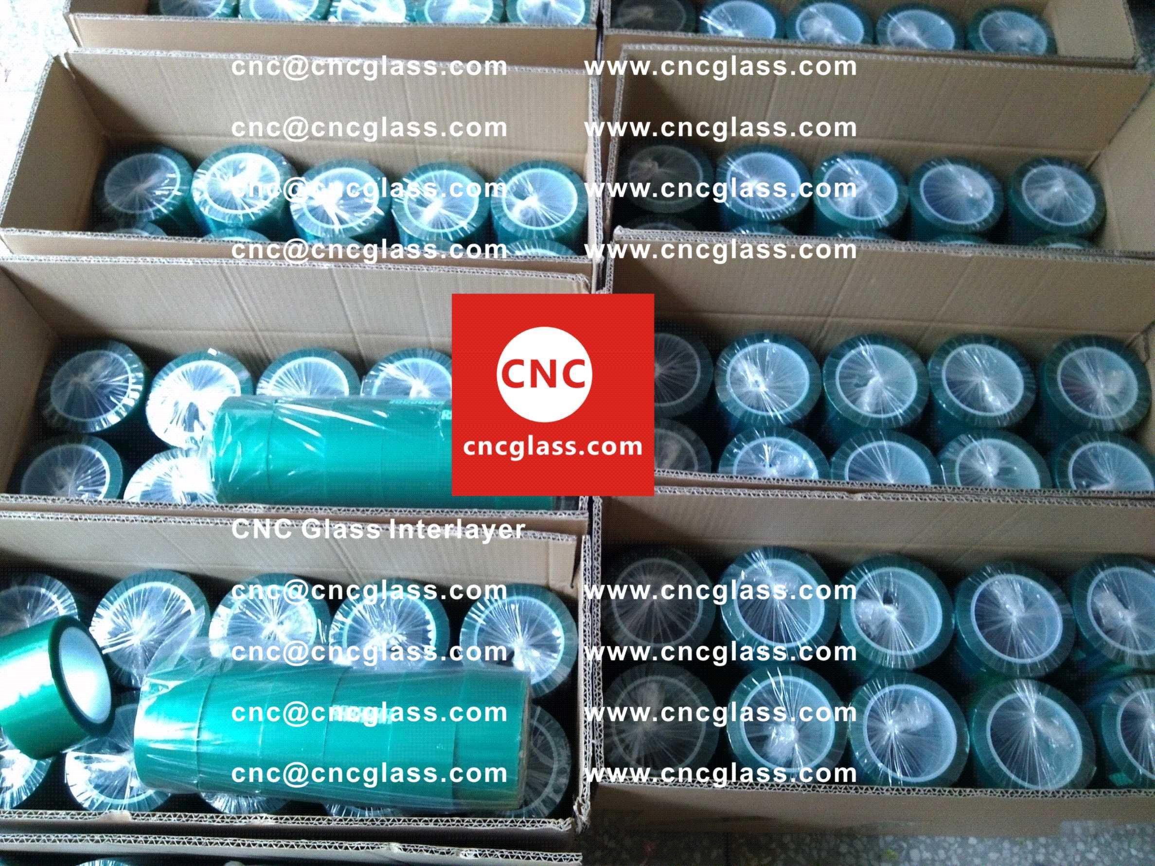 003 Green Tape for safety glazing, eva glass laminating