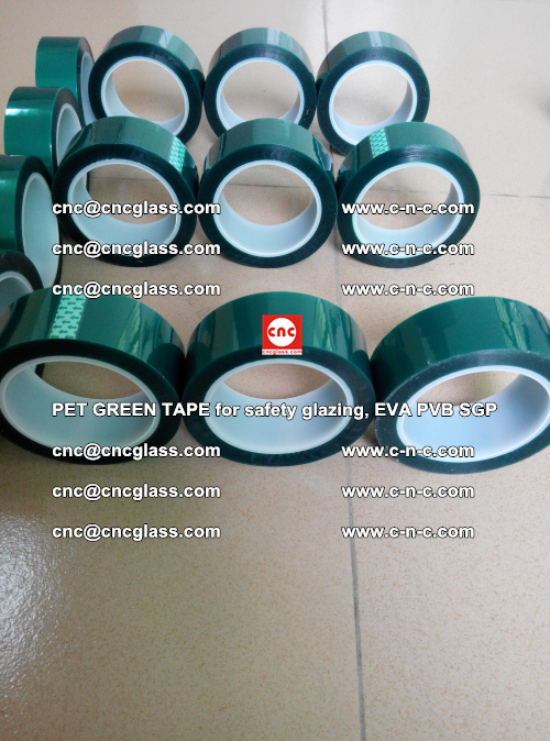 PET GREEN TAPE for safety glazing, EVA PVB SGP (24)