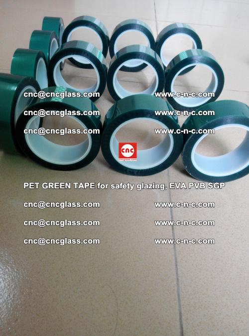 PET GREEN TAPE for safety glazing, EVA PVB SGP (25)