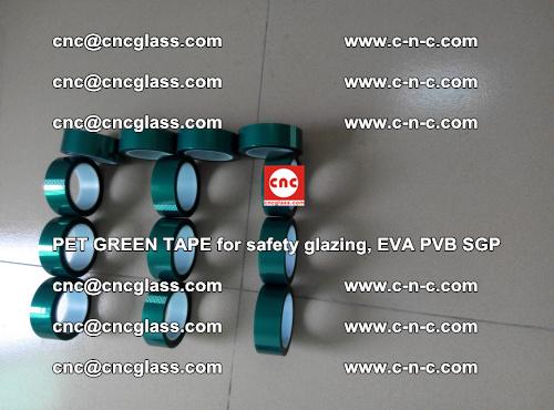 PET GREEN TAPE for safety glazing, EVA PVB SGP (40)