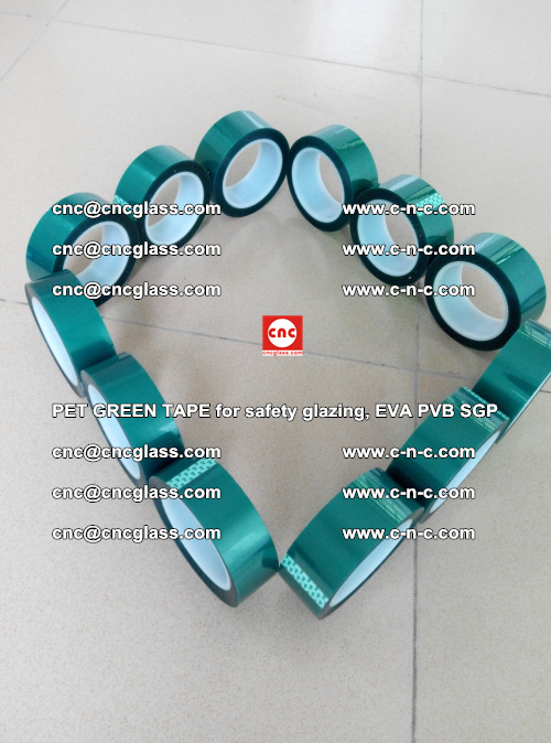PET GREEN TAPE for safety glazing, EVA PVB SGP (51)