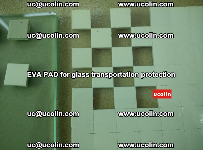 EVA PAD for safety laminated glass transportation protection (105)