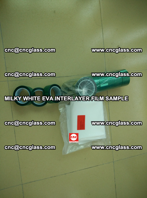EVA FILM SAMPLE, MILKY WHITE, FOR SAFETY GLAZING, EVAVISION (10)