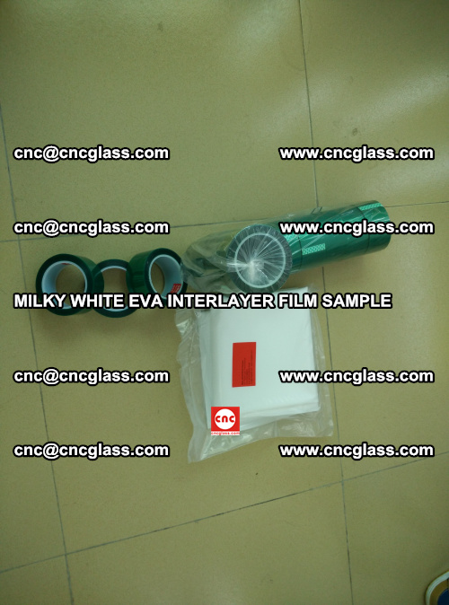 EVA FILM SAMPLE, MILKY WHITE, FOR SAFETY GLAZING, EVAVISION (13)