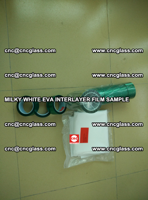 EVA FILM SAMPLE, MILKY WHITE, FOR SAFETY GLAZING, EVAVISION (17)