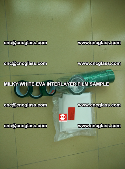 EVA FILM SAMPLE, MILKY WHITE, FOR SAFETY GLAZING, EVAVISION (18)