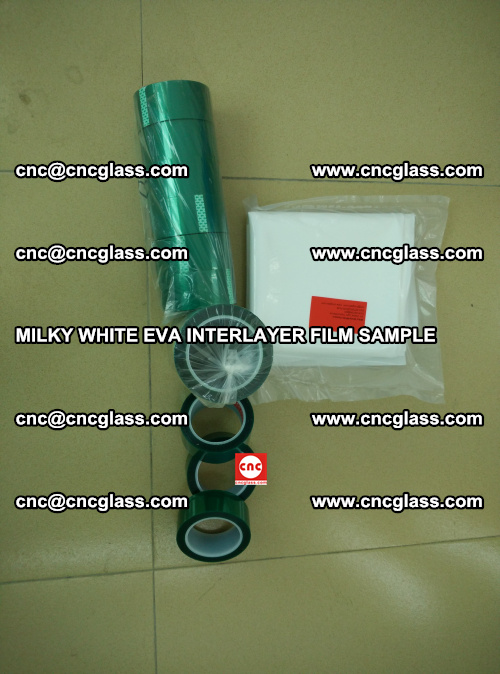 EVA FILM SAMPLE, MILKY WHITE, FOR SAFETY GLAZING, EVAVISION (20)