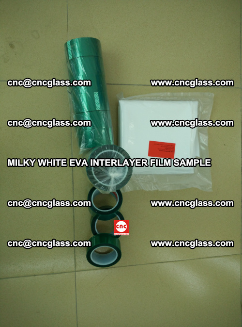 EVA FILM SAMPLE, MILKY WHITE, FOR SAFETY GLAZING, EVAVISION (22)