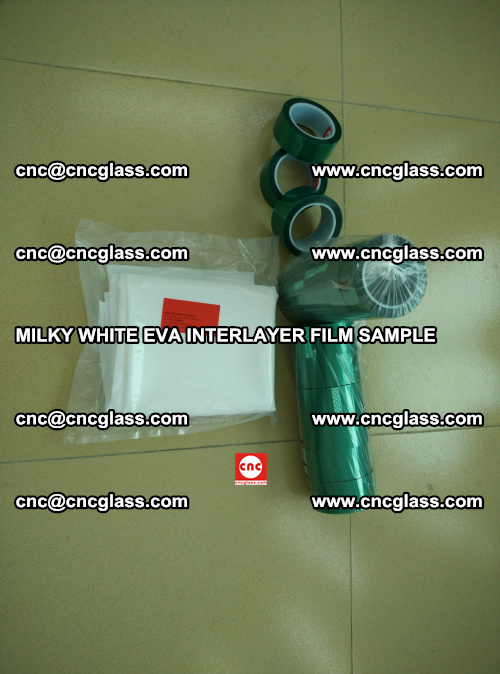 EVA FILM SAMPLE, MILKY WHITE, FOR SAFETY GLAZING, EVAVISION (3)