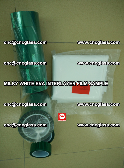 EVA FILM SAMPLE, MILKY WHITE, FOR SAFETY GLAZING, EVAVISION (33)