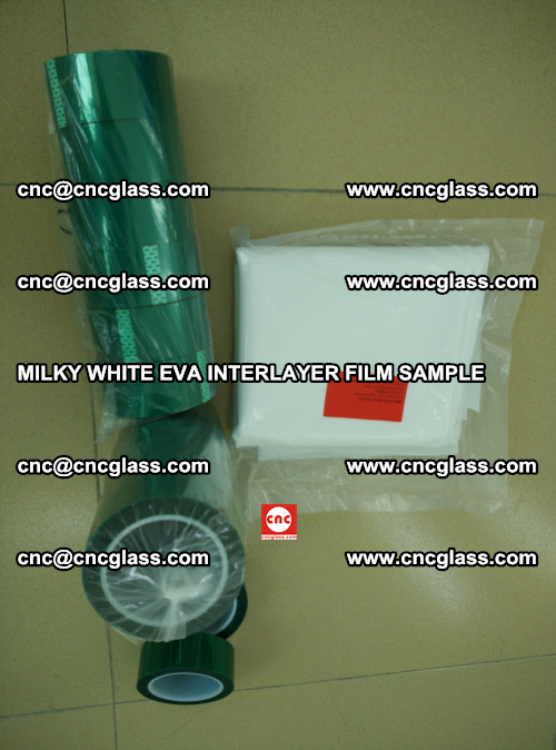 EVA FILM SAMPLE, MILKY WHITE, FOR SAFETY GLAZING, EVAVISION (34)