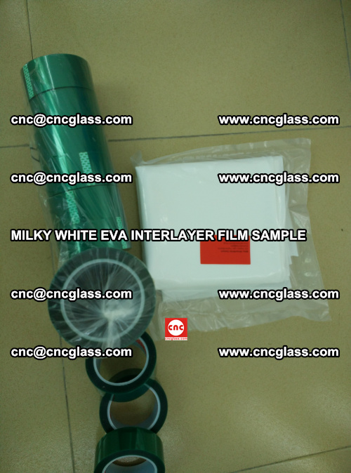 EVA FILM SAMPLE, MILKY WHITE, FOR SAFETY GLAZING, EVAVISION (41)