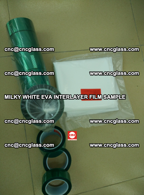 EVA FILM SAMPLE, MILKY WHITE, FOR SAFETY GLAZING, EVAVISION (43)