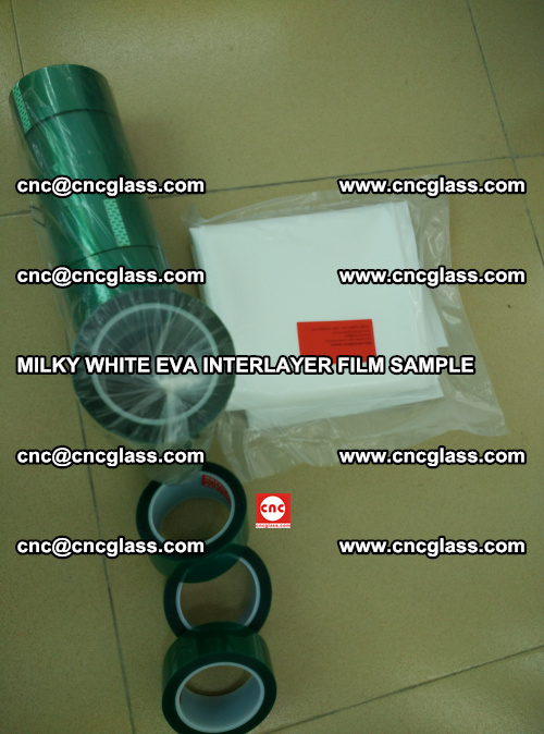 EVA FILM SAMPLE, MILKY WHITE, FOR SAFETY GLAZING, EVAVISION (44)
