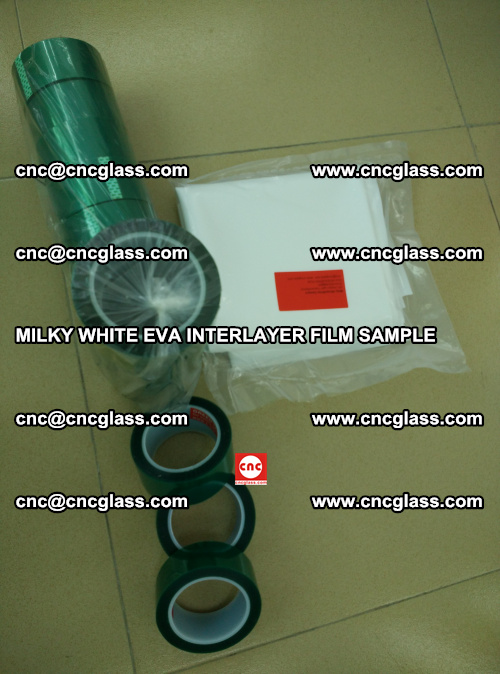 EVA FILM SAMPLE, MILKY WHITE, FOR SAFETY GLAZING, EVAVISION (45)