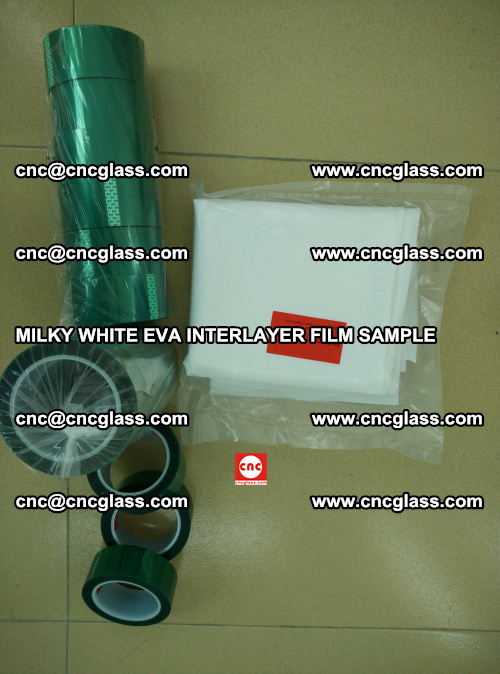 EVA FILM SAMPLE, MILKY WHITE, FOR SAFETY GLAZING, EVAVISION (49)