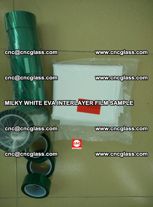 EVA FILM SAMPLE, MILKY WHITE, FOR SAFETY GLAZING, EVAVISION (52)