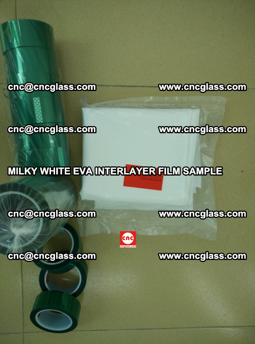 EVA FILM SAMPLE, MILKY WHITE, FOR SAFETY GLAZING, EVAVISION (53)