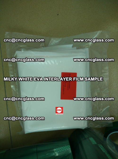 EVA FILM SAMPLE, MILKY WHITE, FOR SAFETY GLAZING, EVAVISION (58)