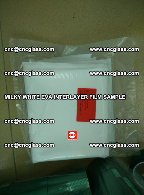 EVA FILM SAMPLE, MILKY WHITE, FOR SAFETY GLAZING, EVAVISION (60)