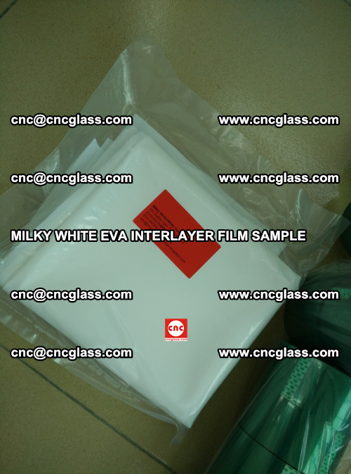 EVA FILM SAMPLE, MILKY WHITE, FOR SAFETY GLAZING, EVAVISION (63)