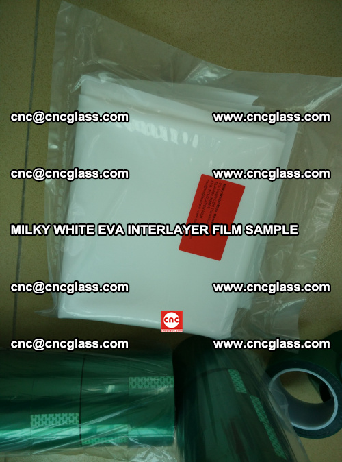 EVA FILM SAMPLE, MILKY WHITE, FOR SAFETY GLAZING, EVAVISION (67)