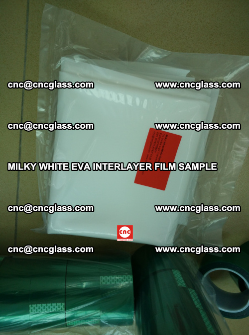 EVA FILM SAMPLE, MILKY WHITE, FOR SAFETY GLAZING, EVAVISION (68)