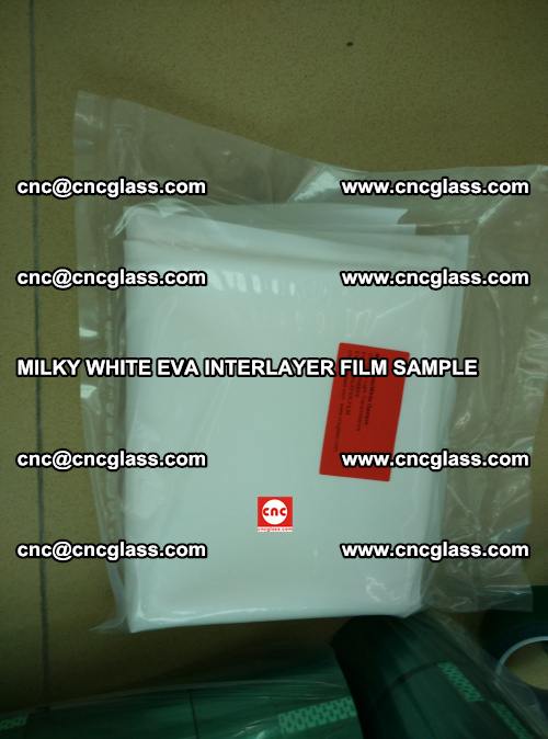 EVA FILM SAMPLE, MILKY WHITE, FOR SAFETY GLAZING, EVAVISION (69)