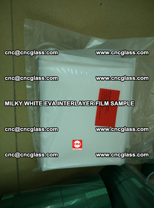 EVA FILM SAMPLE, MILKY WHITE, FOR SAFETY GLAZING, EVAVISION (70)