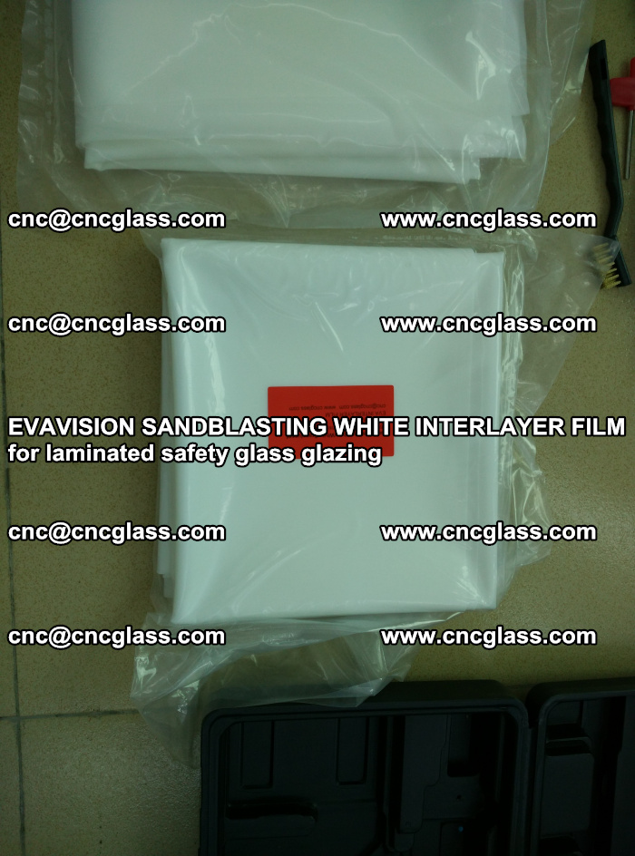EVAVISION SANDBLASTING WHITE INTERLAYER FILM for laminated safety glass glazing (10)