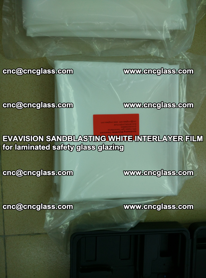 EVAVISION SANDBLASTING WHITE INTERLAYER FILM for laminated safety glass glazing (12)